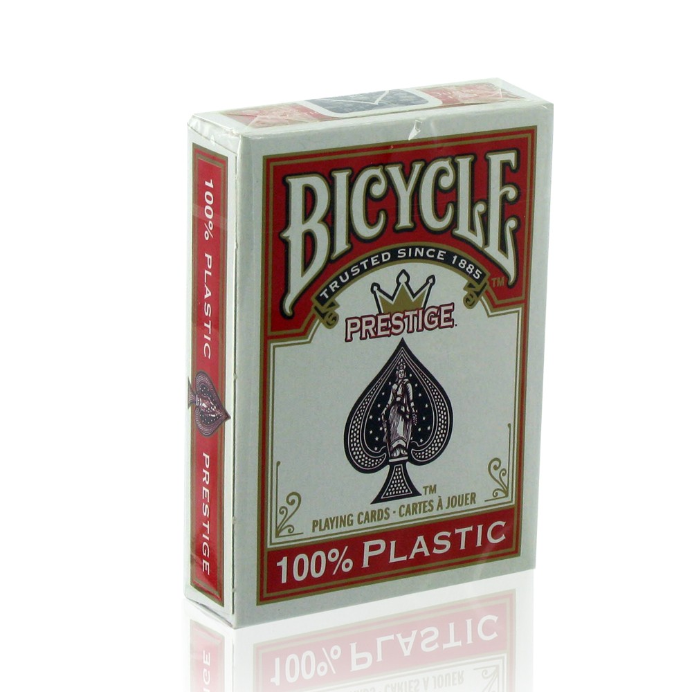 BICYCLE PRESTIGE 100% PLASTIC RED